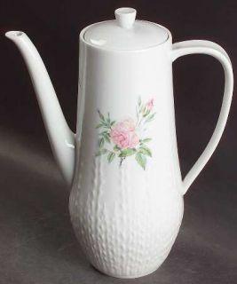 Hutschenreuther Rosita Coffee Pot & Lid, Fine China Dinnerware   Excellenz Shape