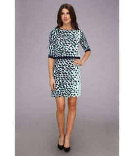 Donna Morgan Printed Matte Jersey Popover with Sleeves Womens Dress (Multi)