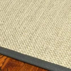 Hand woven Resorts Natural/ Grey Fine Sisal Rug (5 X 8)
