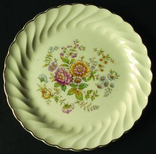 Royal (USA) Princess Pat Gold(Gold Trim) Salad Plate, Fine China Dinnerware   Mu