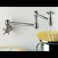 Mico 7787 C4 CP Countryside Two Handle Kitchen Pot Filler Faucet w/Cross Handles