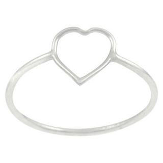 Tressa Collection Sterling Silver Heart Cut out Ring   Silver 9