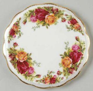 Royal Albert Old Country Roses Tea Tile, Fine China Dinnerware   Montrose Shape,