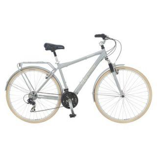 Schwinn Mens Grid 28 Hybrid Bike   Grey & Cream