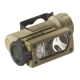 Streamlight 14100 Flashlight Sidewinder Compact Military Featuring C4 LEDs, with Helmet Mount and CR123A Lithium Battery Coyote