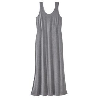 Merona Womens Plus Size Sleeveless V Neck Maxi Dress   Gray 2