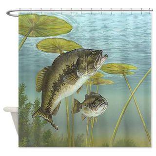 Bass Fishing Shower Curtain Use Code FREECART At Checkout