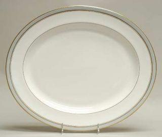 Royal Worcester Howard Gray (Gold Trim) 15 Oval Serving Platter, Fine China Din