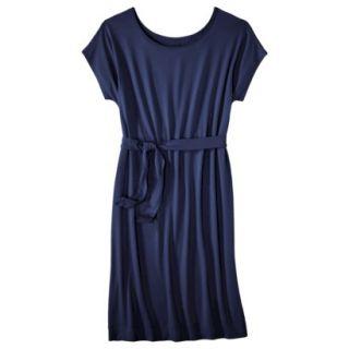 Merona Womens Knit Belted Dress   Xavier Navy   L