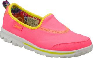 Infant/Toddler Girls Skechers GOplay   Pink/Green Vegetarian Shoes