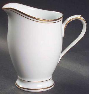 Noritake Allison Creamer, Fine China Dinnerware   White With Gold Band