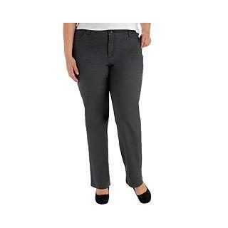 Lee Classic Twill Pants   Plus, Flint, Womens