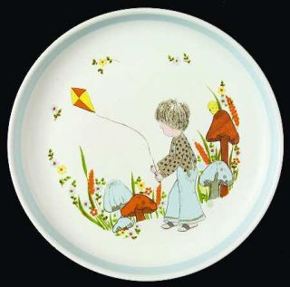 Denby Langley Dream Weavers (Blue) Childs Plate, Fine China Dinnerware   Child,