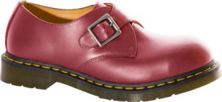 Dr. Martens Joey Monk Steel Toe Shoe   Cherry Red Smooth Casual Shoes