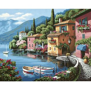 Lakeside Village Paint by number Kit (20x16)