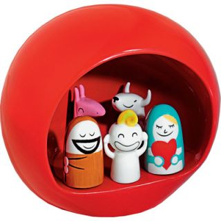 Alessi Holiday Presepe Figurine AMGI10 Color: Red