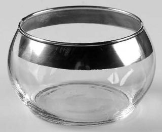 Dorothy Thorpe Silver Band Sugar Open   Wide 1 Silver Band,V Shaped Bowl