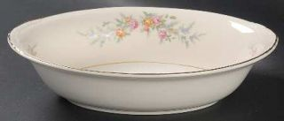 Homer Laughlin  Ferndale 9 Oval Vegetable Bowl, Fine China Dinnerware   Egg. Na