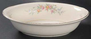 Homer Laughlin  Ferndale 9 Oval Vegetable Bowl, Fine China Dinnerware   Egg. Na