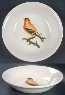 Royal Stafford Decoupage Coupe Cereal Bowl, Fine China Dinnerware   Birds,Flower