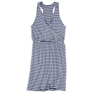 Merona Petites Sleeveless V Neck Dress   Blue/Cream XXLP