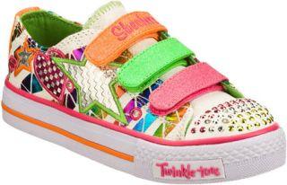Infant/Toddler Girls Skechers Twinkle Toes Shuffles Classy Sassy   White/Multi