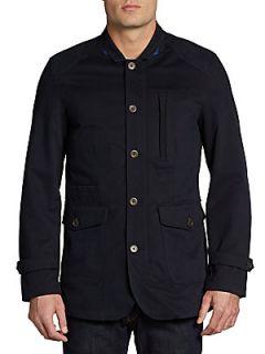 Wolf Cotton & Cashmere Jacket   Navy