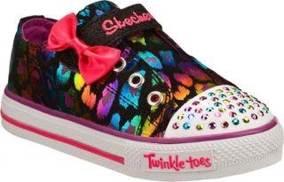 Infant/Toddler Girls Skechers Twinkle Toes Shuffles Dazzlin Girl   Black/Multi