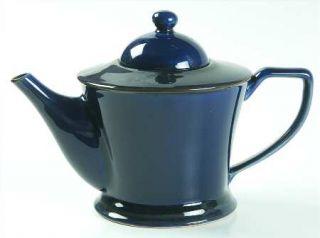 Interiors (PTS) Prairie Midnight Pond Blue Teapot & Lid, Fine China Dinnerware