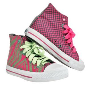 Girls Xolo Shoes Hot Z High Top Canvas Sneakers   Pink 13
