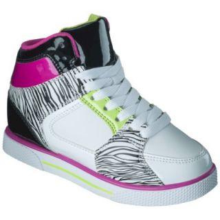 Girls Xhilaration Greta High Top Sneaker Wedge   Black/White 5