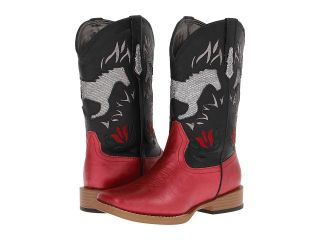 Roper Kids Bling Chunks w/ Horse Cowboy Boots (Red)