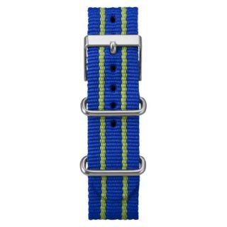 Timex Fullsize Weekender Replacement Strap   Blue/Green