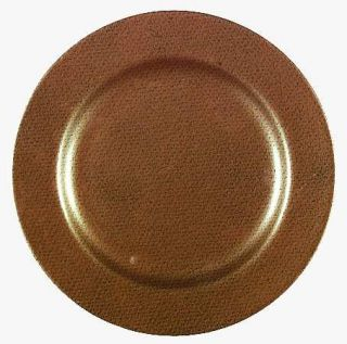 Interiors (PTS) Copper Salad Plate, Fine China Dinnerware   Copper Rim With Blac