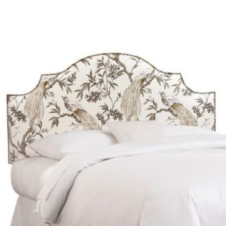 Skyline King Headboard: : Roberta Nail Button Notched Headboard   Winter
