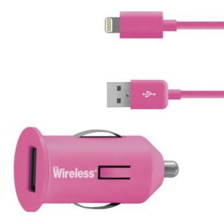 Just Wireless Car Mobile Charger for iPhone 5/5S   Pink (03465)