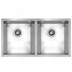 Whitehaus WHNC2917 NOAH Double Bowl Undermount Kitchen Sink 29 1/2 x 17 3/8