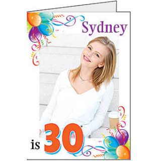 Sparkle Balloons Birthday Giant Cards
