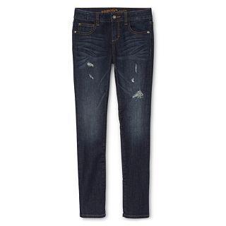 ARIZONA Destructed Glitter Skinny Jeans   Girls 6 16 and Girls Plus, Silver,