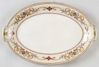 Royal Embassy Wheeling (Occupied Japan) 13 Oval Serving Platter, Fine China Din