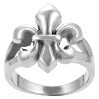 Journee Collection Sterling Silver Fleur de Lis Ring   Silver 7