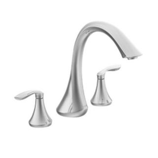 Moen T943 Bathroom Faucet, Eva Series TwoHandle High Arc Roman Tub Faucet Chrome