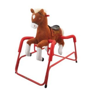 Tek Nek Rockin Rider Lucky Deluxe Talking Plush Spring Horse   Animated