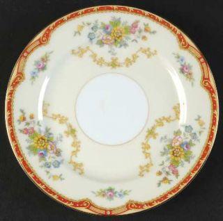 Noritake Blakely (No #) Bread & Butter Plate, Fine China Dinnerware   Rust Borde