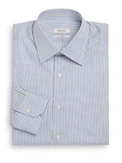 Checked Cotton Dress Shirt/Slim Fit   Blue
