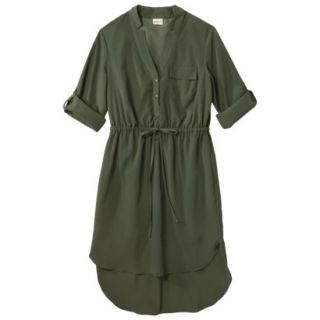 Merona Womens Drawstring Shirt Dress   Moss   L