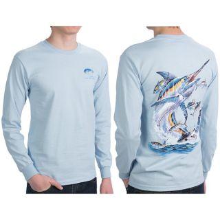 Costa Del Mar Carey Chen Marlin T Shirt   Long Sleeve (For Men)   BLUE (S )