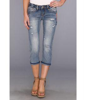 UNIONBAY Amanda Denim Crop With Enamal Details in 5 Year Blue Blast Womens Jeans (Blue)
