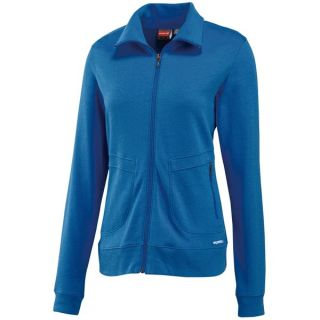 Merrell Skye Opti Wick(R) Jacket   Midweight  Full Zip  Cotton (For Women)   DEEP WATER (M )