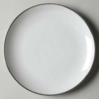 Meito Wedding Ring (Platinum Trim) Salad Plate, Fine China Dinnerware   White W/